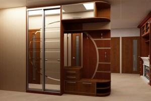 Неординарный дизайн шкафа-купе в прихожую