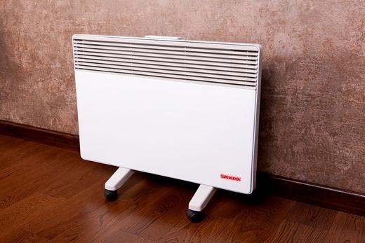 Интерьер с конвектором отопления электрического типа