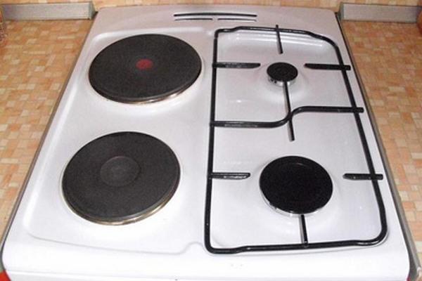 Комбинированная электрогазовая кухонная плита