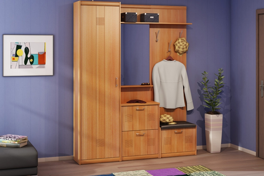 Мебельный модульный набор для прихожей «Сити»