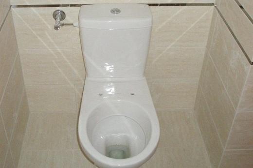 Попробуйте вымыть пол за напольным унитазом