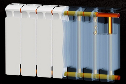 Rifar Monolit радиатор в разрезе