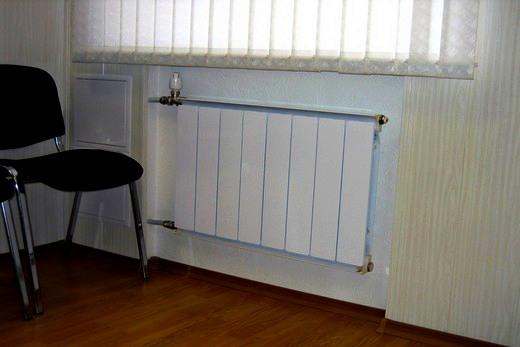 Интерьер зала с радиатором бренда Термал