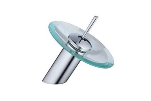 Смеситель Frap со стеклянным диском вместо излива