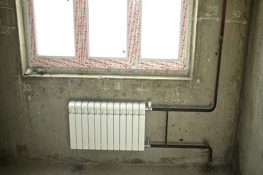 Установка Rifar Monolit 350 радиатора