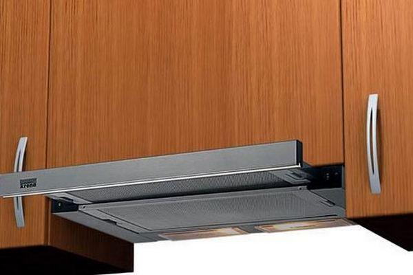Встроенная телескопическая кухонная вытяжка Крона Kamilla Slim 500 INOX/INOX