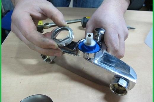 Замена керамического картриджа в смесителе