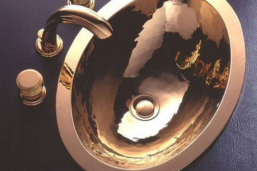 Металлическая раковина премиум класса, фото