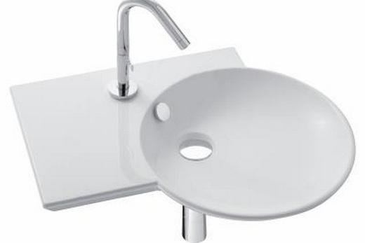 Раковина с левым крылом для ванной комнаты