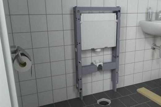 Монтаж скрытого бачка для напольного унитаза, фото