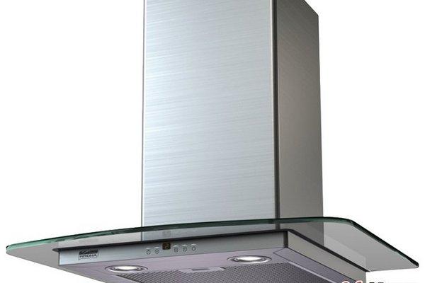 Вытяжка Крона в стиле Модерн Jasmin Slim 500 INOX/Glass 3P