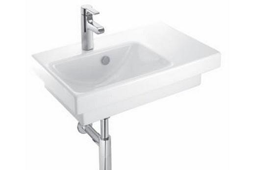 Раковина с правым крылом для ванной комнаты