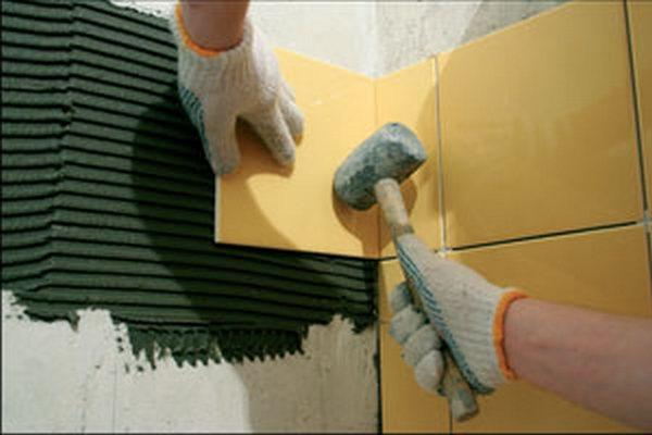 Кладка плитки на стены своими руками