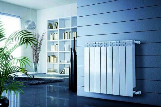 Интерьер кабинета с радиаторами марки Rifar Monolit