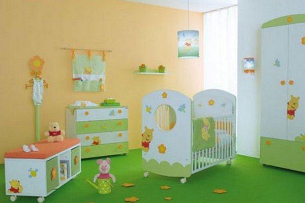 Зеленый пол в интерьере детской – самое то!