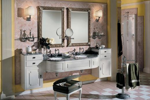 Встроенная раковина в интерьере ванной комнаты, фото