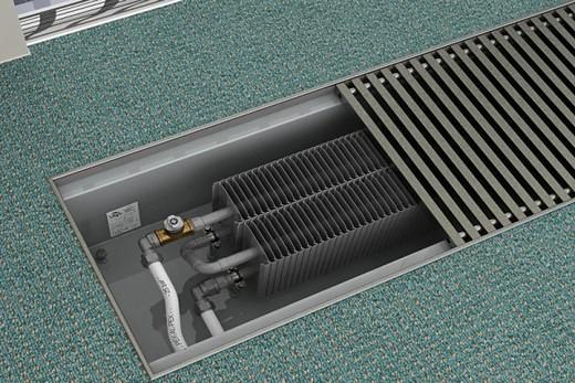Спрятанная в полу батарея отопления
