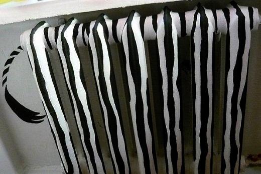Покраска в «зебру» радиатора