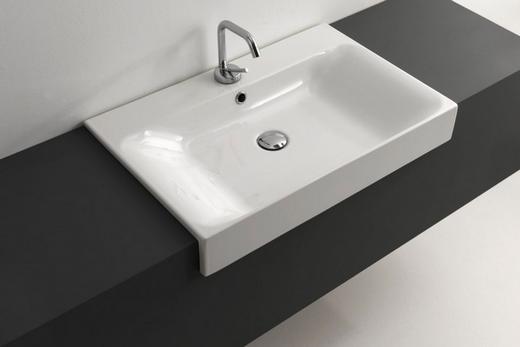 Полувстроенная раковина для ванной комнаты, фото