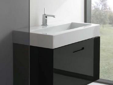 Подвесная раковина в интерьере ванной