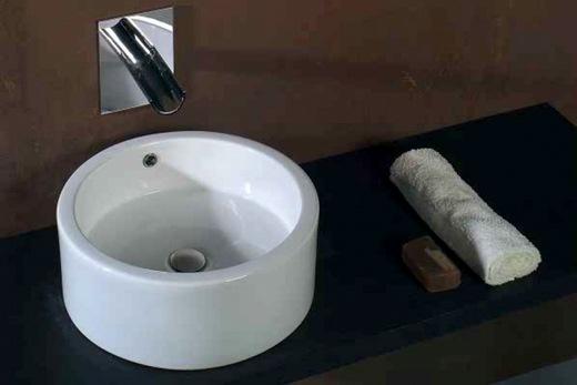 Накладная раковина из искусственного камня для ванной