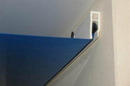 Гарпунный способ крепления натяжного потолка