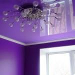 Яркий фиолетовый цвет придает комнате необыкновенную красоту!