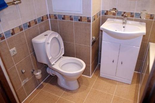 Керамиечская отделка туалета