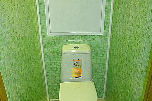 Отделка туалета листами пластика