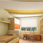 Желто-белый потолок - самое то для детей-трудоголиков