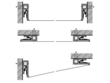 Крепление натяжного потолка багетами
