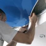 Снятие натяжного потолка