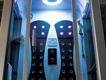 Душевая кабина, подключенная к коммуникациям