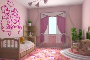 Детская комната с наливным полом