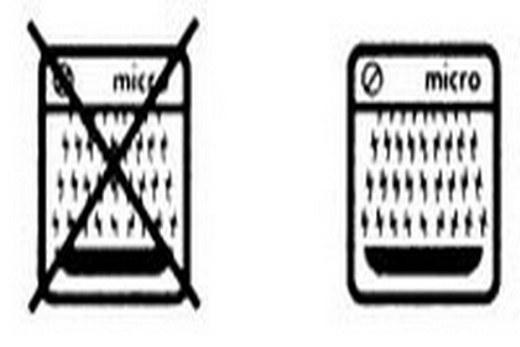 Схематический рисунок микроволновки - маркировка на посуде