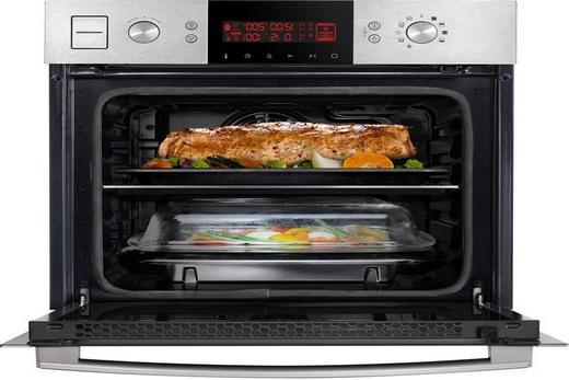 Духовка газового типа с микроволновой печью