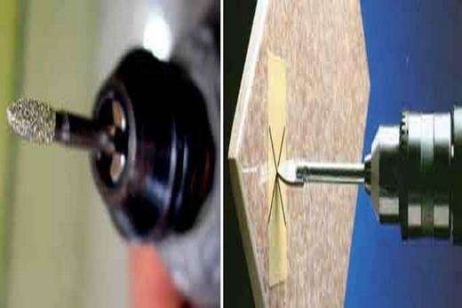 Различные сверла для плитки из кафеля
