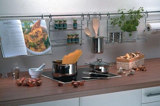 На кухне рейлинги Kessebohmer
