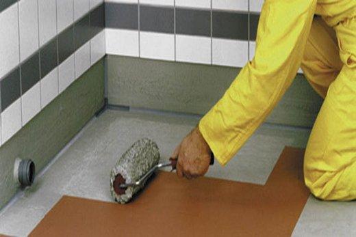 В ванной гидроизоляция пола полимерной смесью