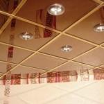 Кассетный зеркальный подвесной потолок