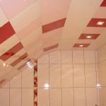 Кассетный потолок в ванной комнате