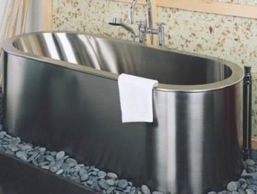 Металлическая ванна из нержавейки