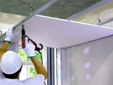 Монтаж многоуровневого потолка из гипсокартона