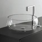 Накладная стеклянная раковина