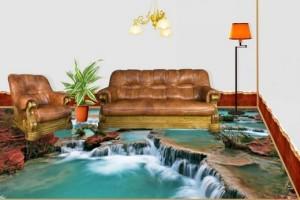 Наливной пол водопад