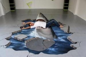 Наливной пол акула