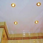 Интерьер туалета с натяжным потолком