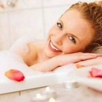 Её счастье - в ванне!