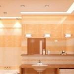 Рсвещение в ванной комнате или совмещенном санузле