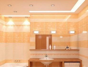 Вариан освещения ванной комнаты